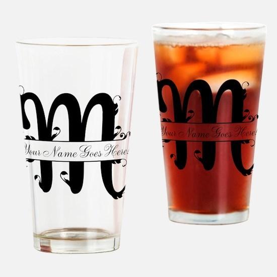 Monogram M Drinking Glass