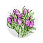 Purple Tulips Button