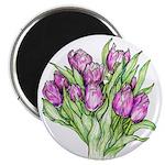 Purple Tulips Magnets