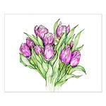 Purple Tulips Posters
