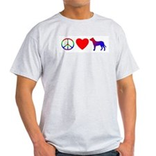 Peace, Love, Dogo Argentino T-Shirt