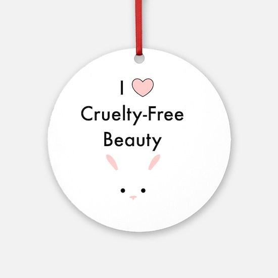 I love cruelty free beauty Round Ornament