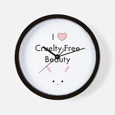 I love cruelty free beauty Wall Clock