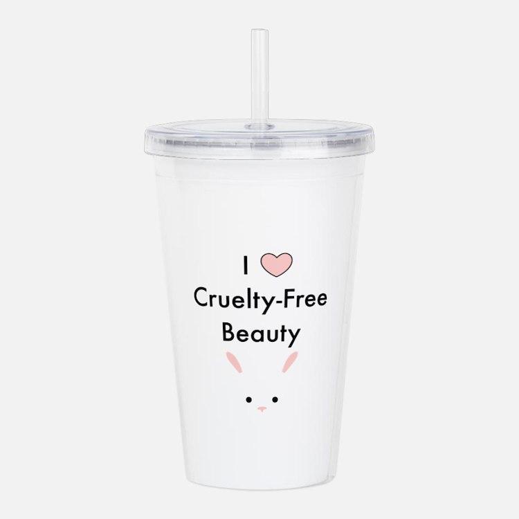 I love cruelty free beauty Acrylic Double-wall Tum