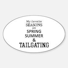 Unique Football tradition Sticker (Oval)