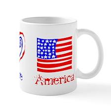 Peace Love America Mug