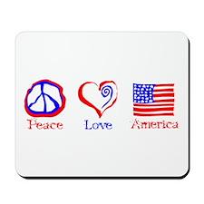 Peace Love America Mousepad