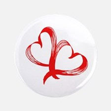 """Double Heart 3.5"""" Button (100 pack)"""
