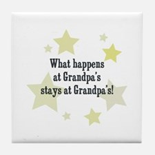 What happens at Grandpa's sta Tile Coaster
