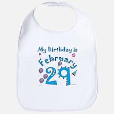 February 29th Birthday Bib
