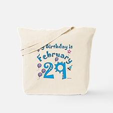 February 29th Birthday Tote Bag