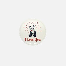 Panda Bear Valentine Mini Button (10 pack)