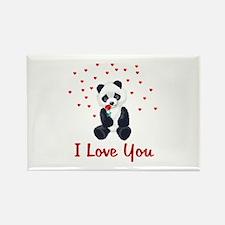 Panda Bear Valentine Rectangle Magnet (10 pack)
