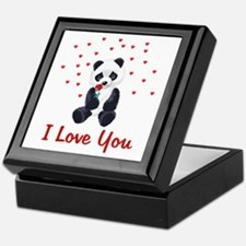 Panda Bear Valentine Keepsake Box