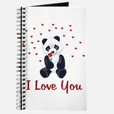 Panda Bear Valentine Journal