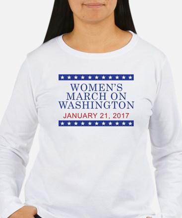 WOMEN'S MARCH ON WASHINGTON Long Sleeve T-Shirt