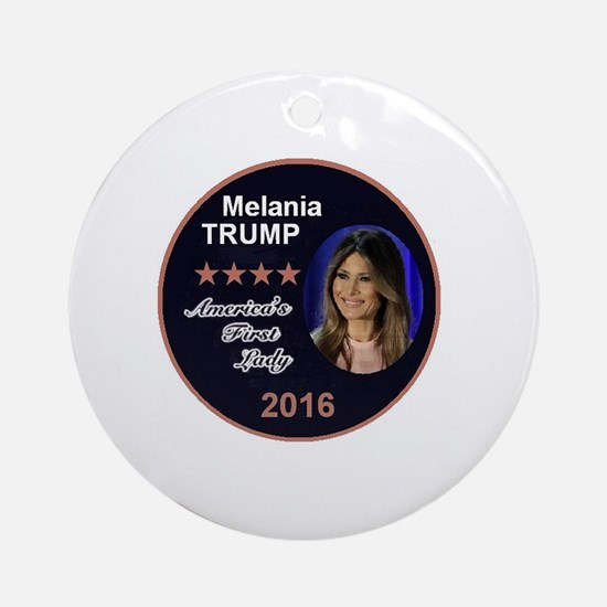 Unique First lady Round Ornament