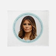 Cute First lady Throw Blanket