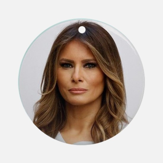 Cute First lady Round Ornament