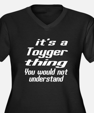 Toyger Thing Women's Plus Size V-Neck Dark T-Shirt