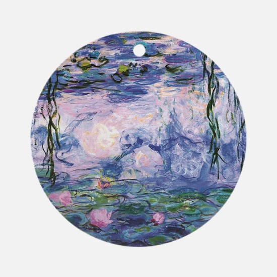 Cute Monet Round Ornament
