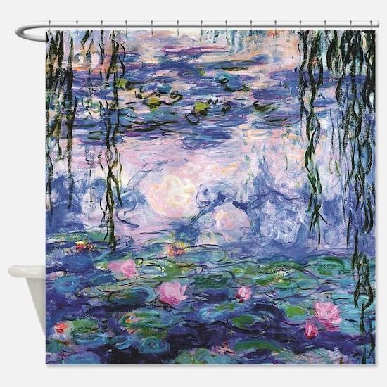 Monet's Water Lilies Shower Curtain