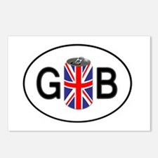 Cute British union jack Postcards (Package of 8)