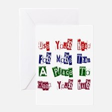 Use Your Head Greeting Cards