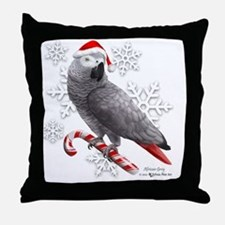Unique African grey parrot Throw Pillow