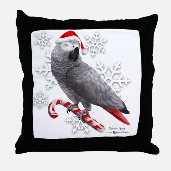 Unique African grey Throw Pillow