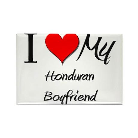I Love My Honduran Boyfriend Rectangle Magnet (10