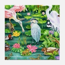 Funny Water lillies Tile Coaster
