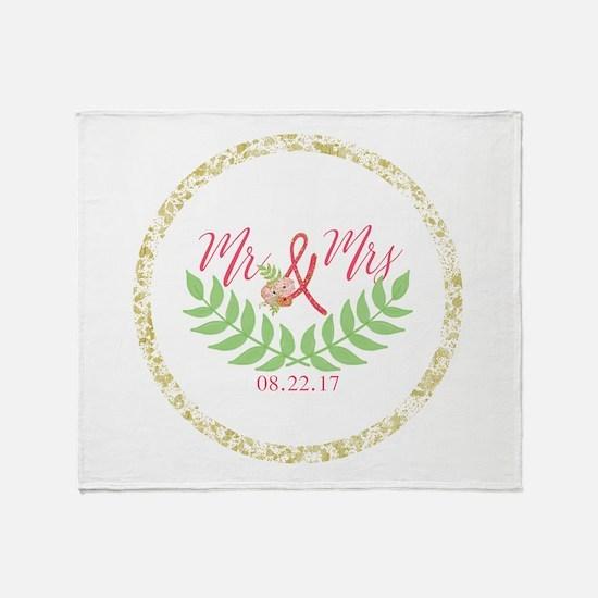 Personalized Wedding Date Throw Blanket