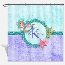 Monogram Mermaid Shower Curtain