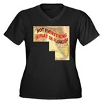 Flat Florida Women's Plus Size V-Neck Dark T-Shirt