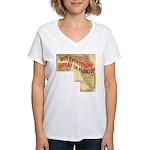 Flat Florida Women's V-Neck T-Shirt