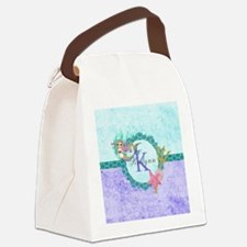 Personalized Monogram Mermaid Canvas Lunch Bag