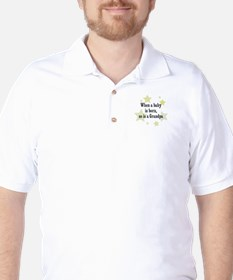 When a baby is born, so is a  Golf Shirt