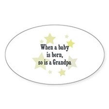 When a baby is born, so is a Oval Decal