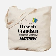 Down Syndrome Grandson Personalized Tote Bag