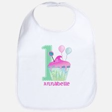 Baby Girl 1st Birthday Baby Bib