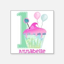 Baby Girl 1st Birthday Sticker