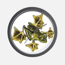 Flying frog Wall Clock