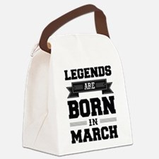 Legends Are Born In March Canvas Lunch Bag