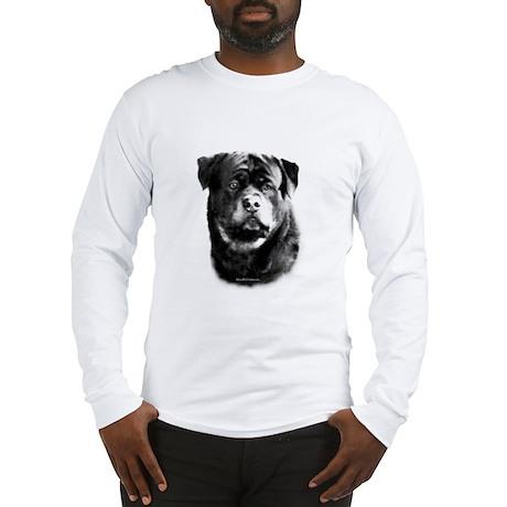 Rottweiler Happy Face Long Sleeve T-Shirt