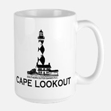 Cape Lookout NC - Lighthouse Design Mugs