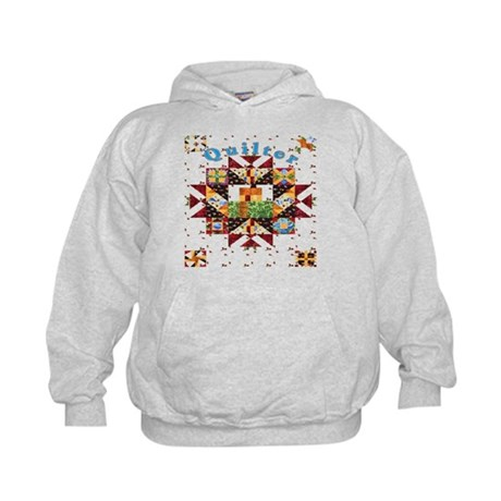 Country Cottage Quilter Kids Hoodie