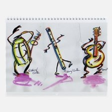 Sharyl Gates dancing Toons musical Wall Calendar