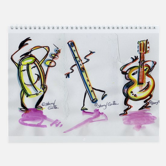 Sharyl Gates dancing Toons musical Wall Calendar