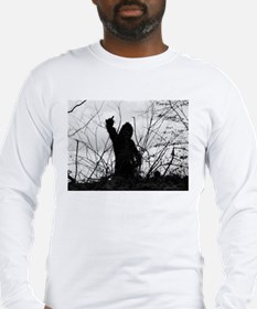 bigfoot finger t1.jpg Long Sleeve T-Shirt
